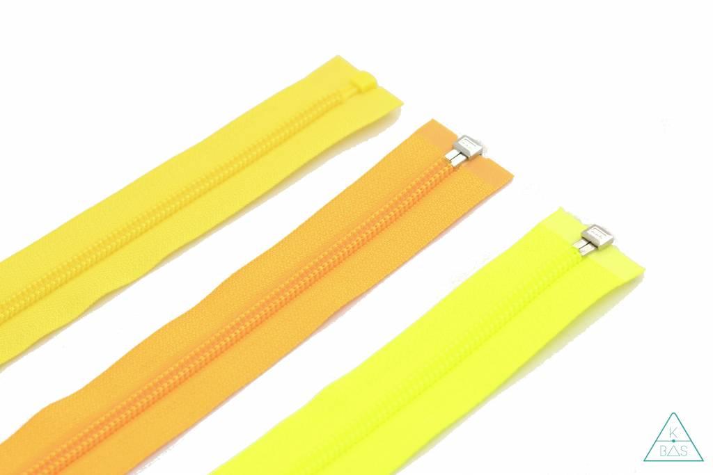 YKK Deelbare Spiraalrits 45cm Fluo geel