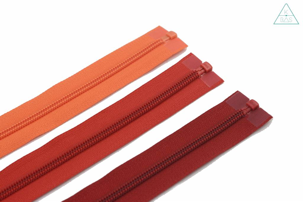 YKK Deelbare Spiraalrits 45cm Rood