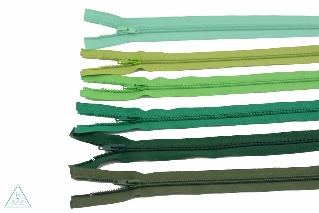 YKK Deelbare Spiraalrits 45cm Grasgroen