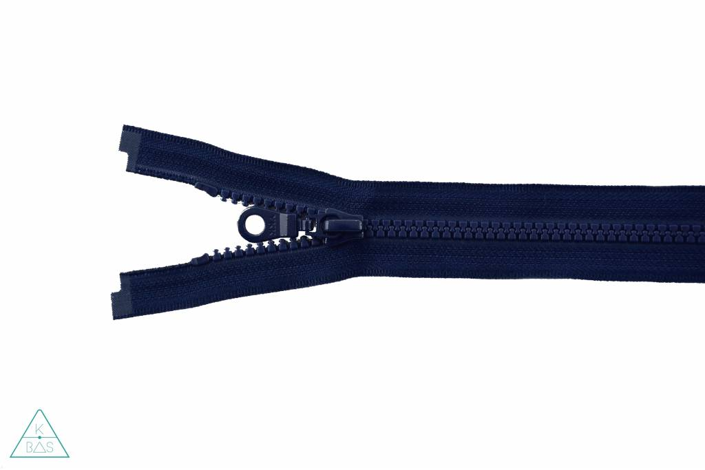 YKK Deelbare Bloktandrits 65cm Donkerblauw