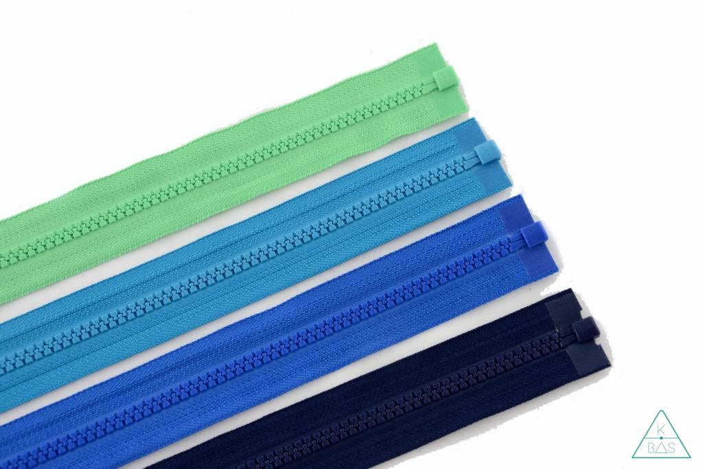 YKK Deelbare  Bloktandrits 65cm Donker turquoise
