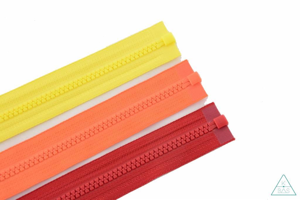 YKK Deelbare Bloktandrits 65cm Oranje