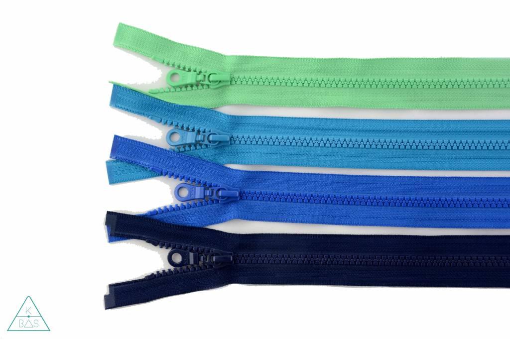 YKK Deelbare Bloktandrits 45cm Donker turquoise