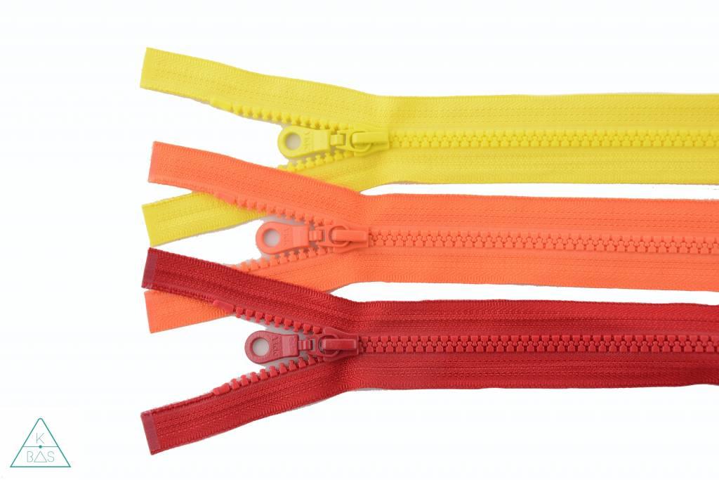 YKK Deelbare Bloktandrits 45cm Oranje