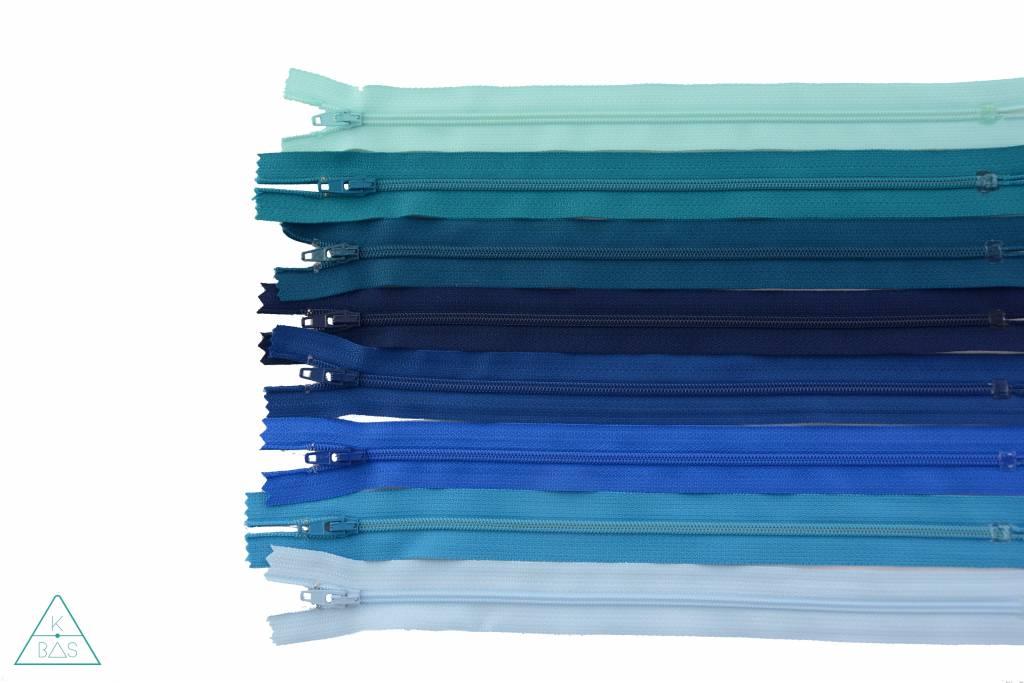 YKK Spiraalrits Niet-Deelbaar 25cm Lichtblauw