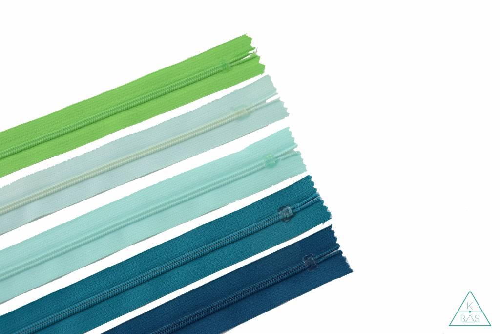 YKK Spiraalrits Niet-Deelbaar 25cm Emerald