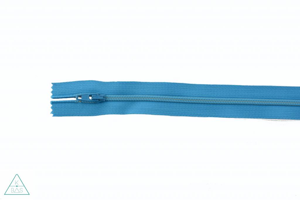 YKK Spiraalrits Niet-Deelbaar 25cm Donker turquoise