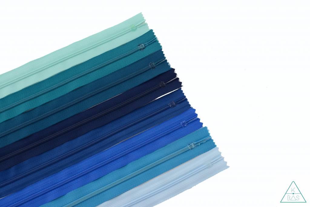 YKK Spiraalrits Niet-Deelbaar 25cm Ijsblauw