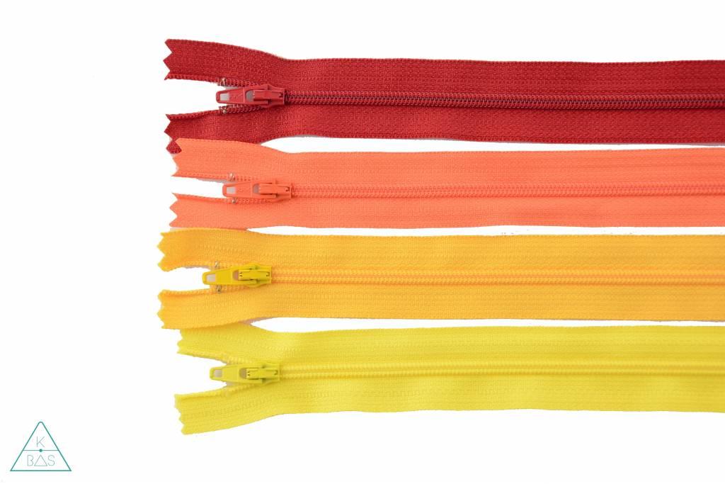 YKK Spiraalrits Niet-Deelbaar 25cm Oranje