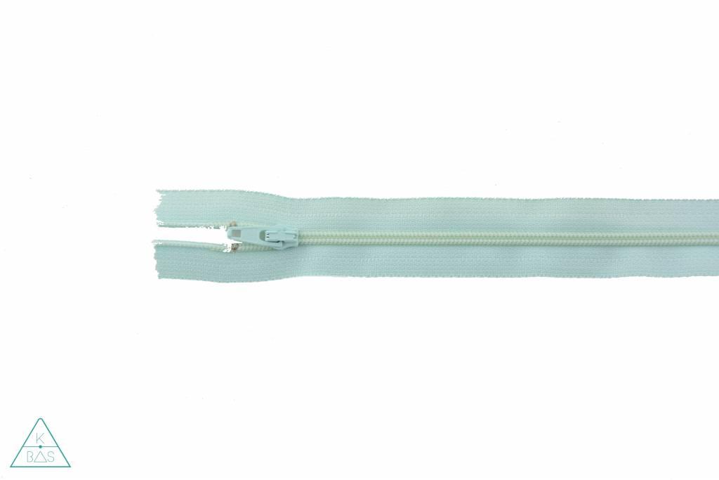 YKK Spiraalrits Niet-Deelbaar 25cm Licht mint
