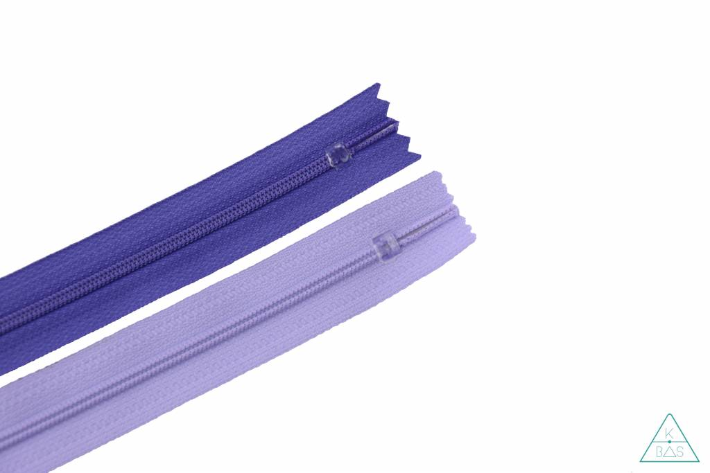 YKK Spiraalrits Niet-Deelbaar 25cm Lavendelpaars