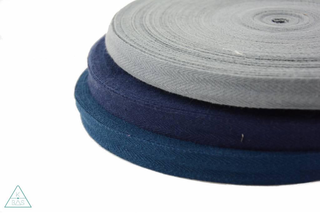 Keperband Donkerblauw 15mm