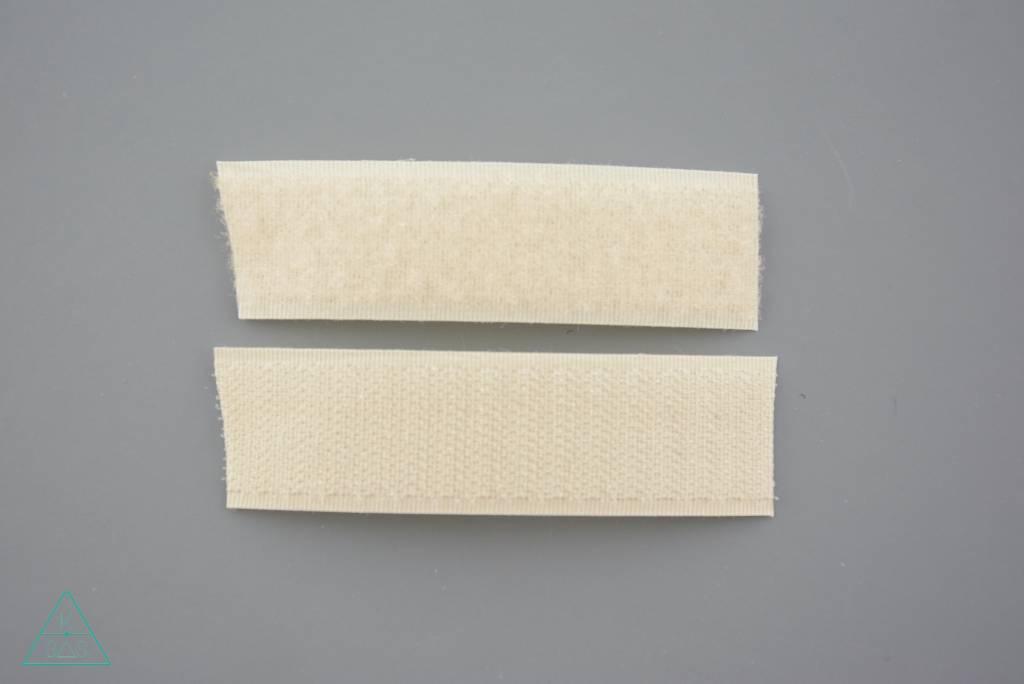 Klittenband 25mm Ivoor