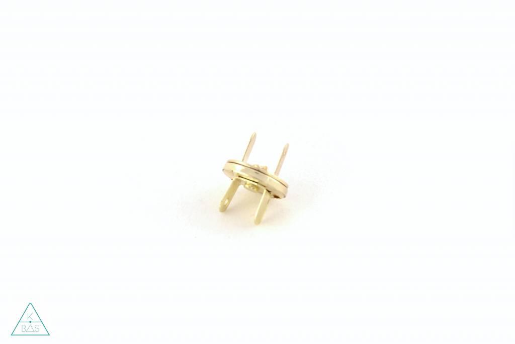 Dunne magneetsluiting Goud 14mm, ultra sterk