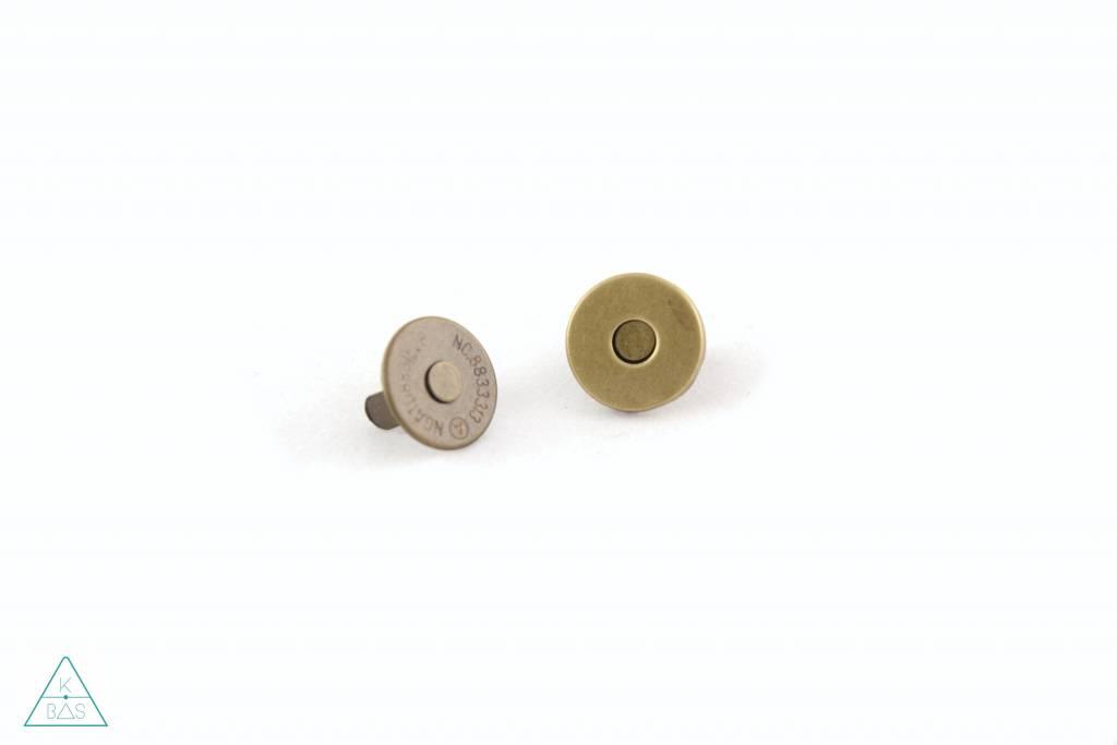 Dunne magneetsluiting Brons 14mm