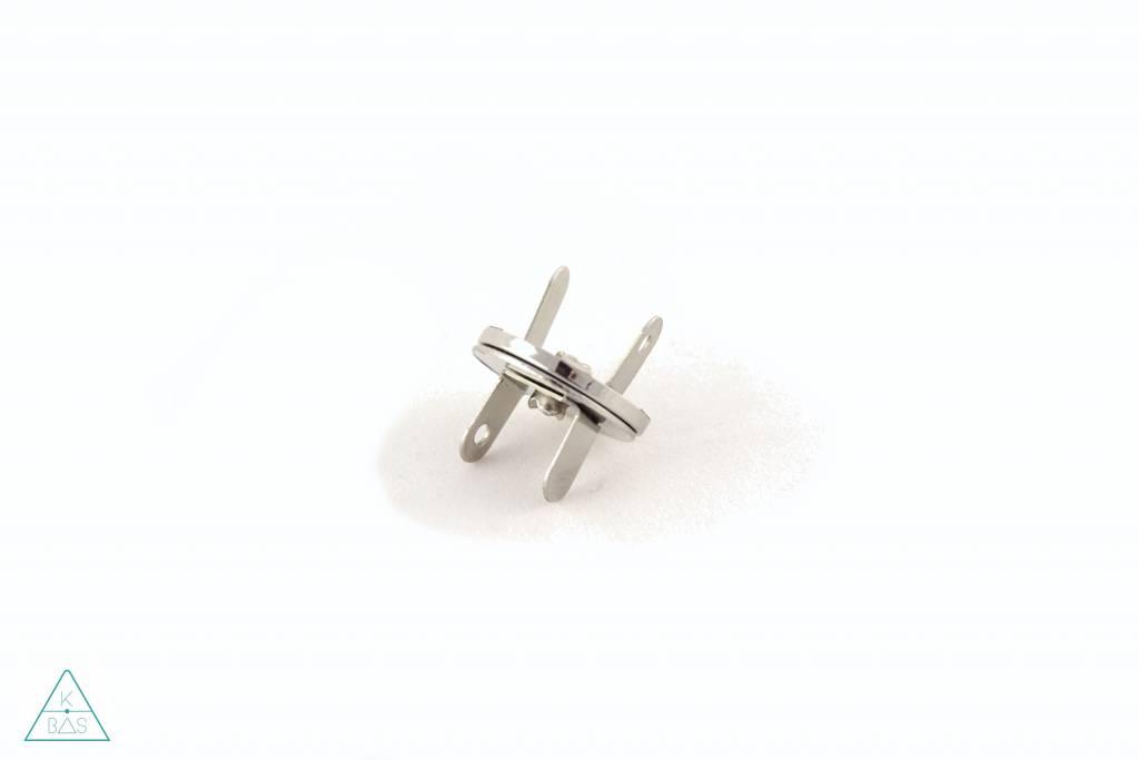 Dunne magneetsluiting Nikkel 18mm, ultra sterk