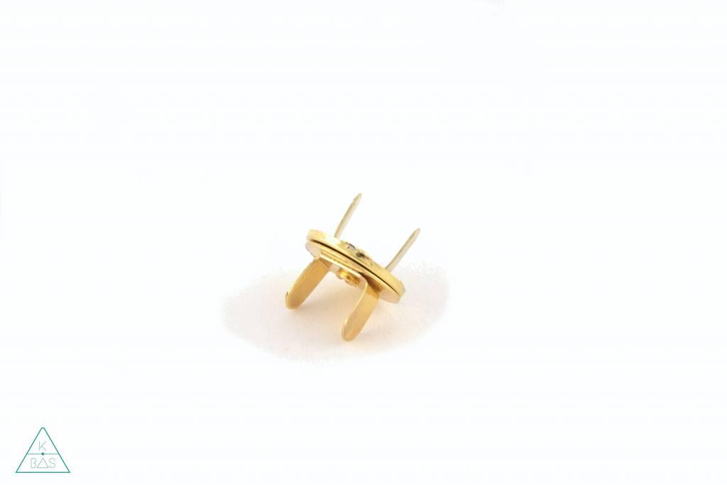 Dunne magneetsluiting Goud 18mm