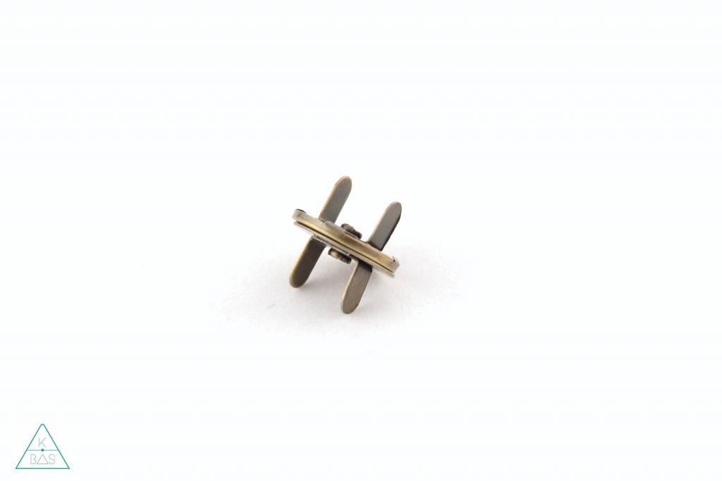 Dunne magneetsluiting Brons 18mm, sterk