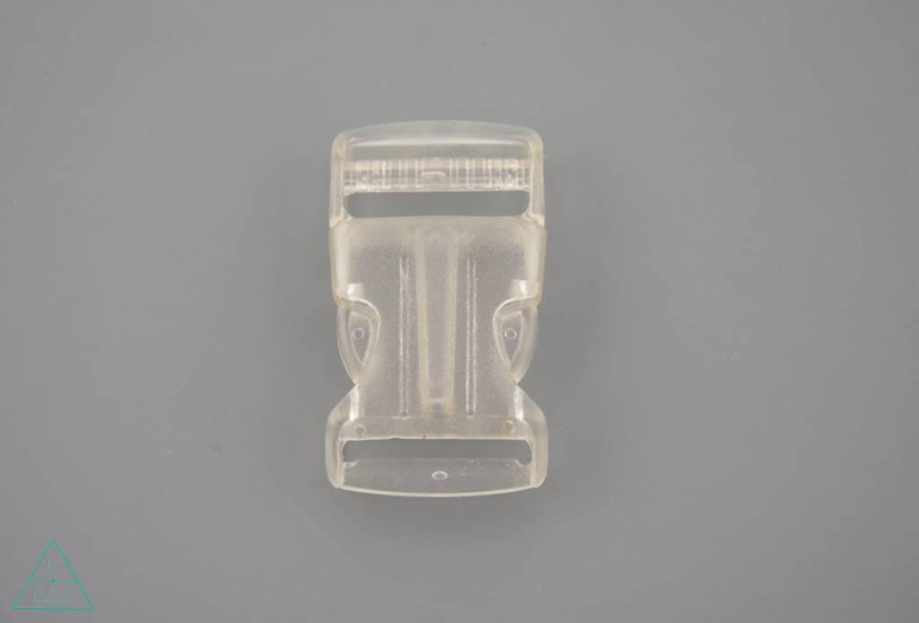 Transparante klikgesp, 25mm