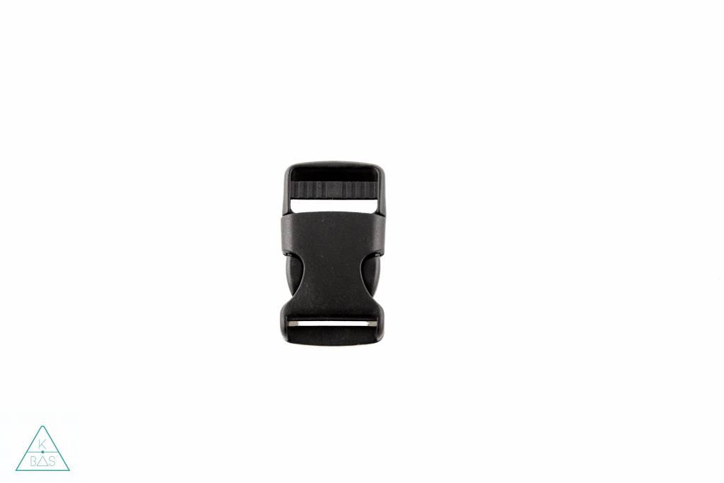 Zwarte klikgesp, 25mm