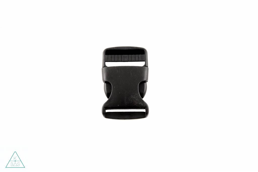 Zwarte klikgesp, 32mm