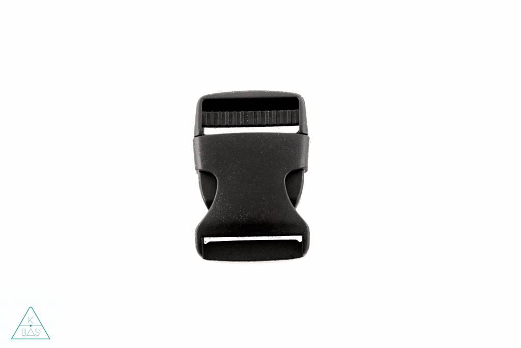 Zwarte klikgesp, 40mm
