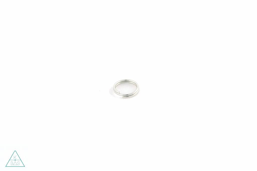Sleutelring, Nikkel, 13mm