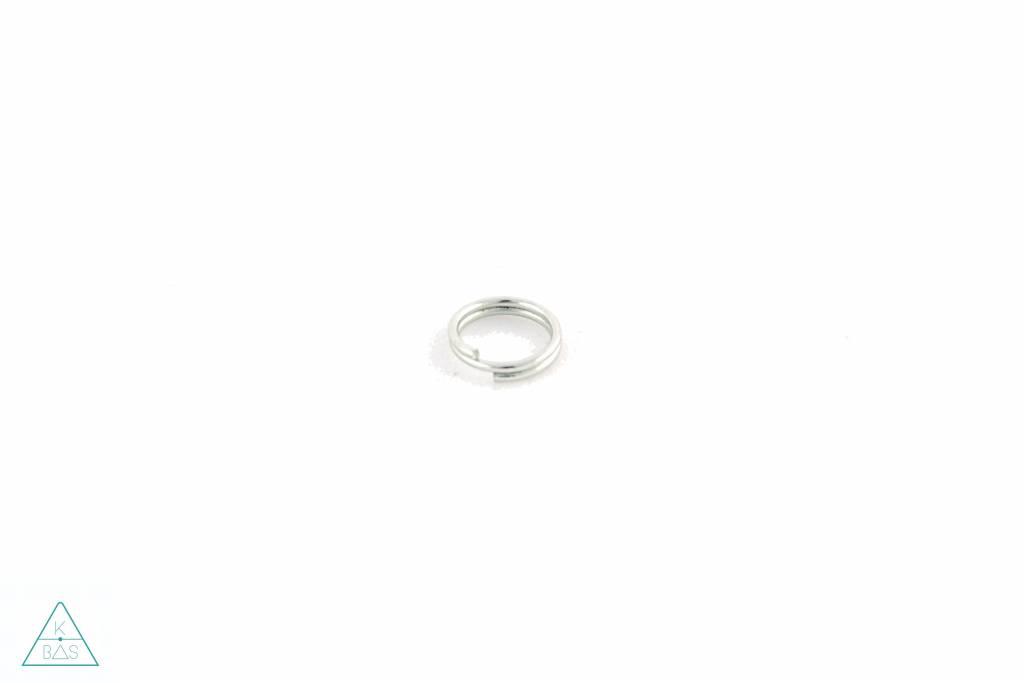 Sleutelring, Nikkel, 15mm