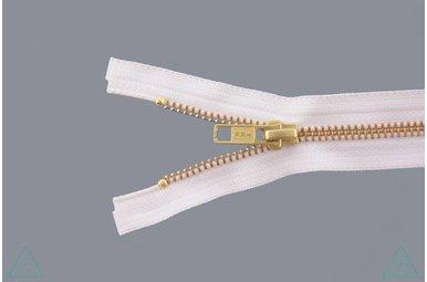 Metalen rits Goud 45cm Ivoor