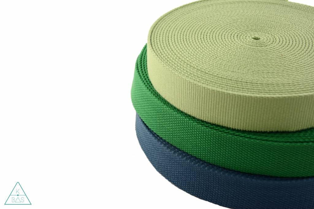 Katoenen tassenband Pastelgroen 30mm