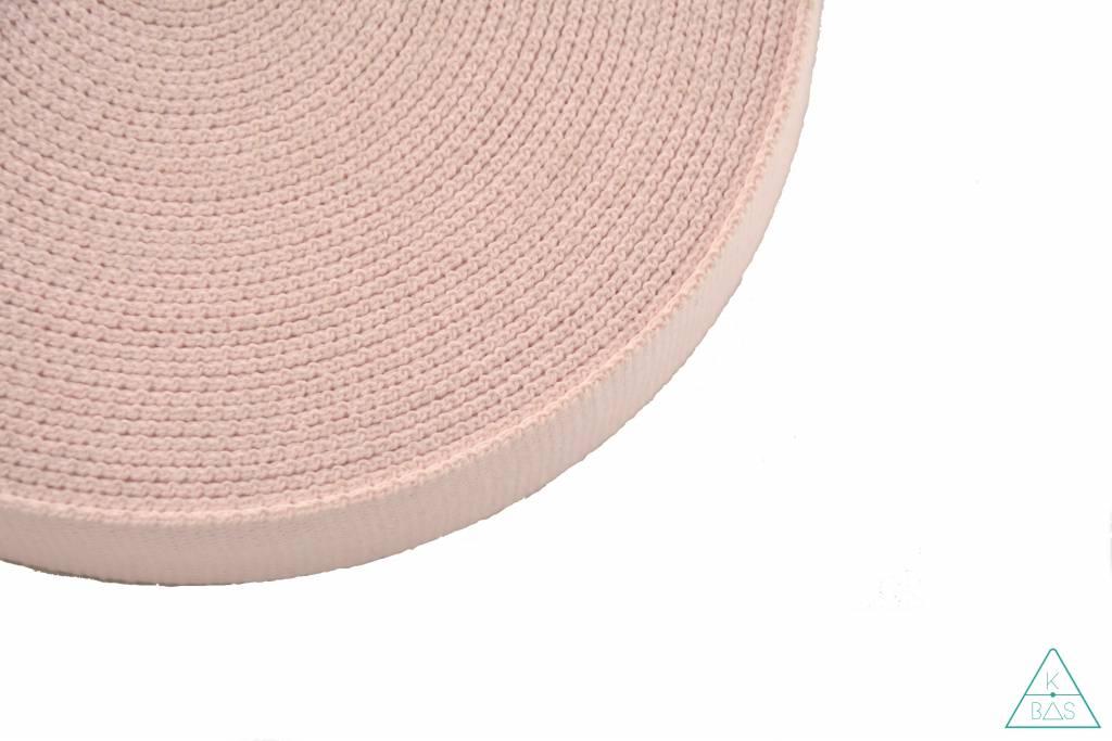 Katoenen tassenband Lichtroze 30mm