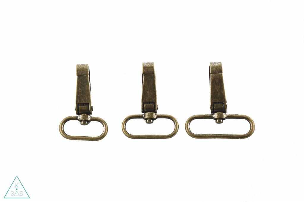 Platte brede musketon, Brons, 25mm