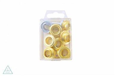 Zeilringen Goud 14mm, voorverpakt