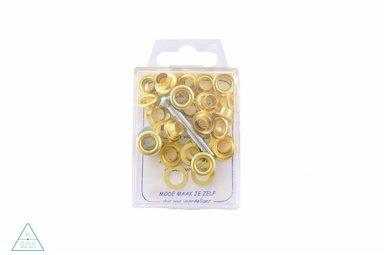Zeilringen Goud 8mm, voorverpakt
