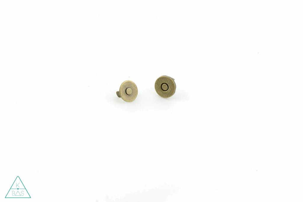 Dunne magneetsluiting Brons 10mm