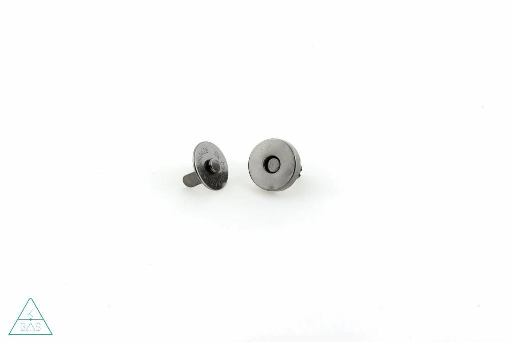 Magneetsluiting Zwart Nikkel 14mm