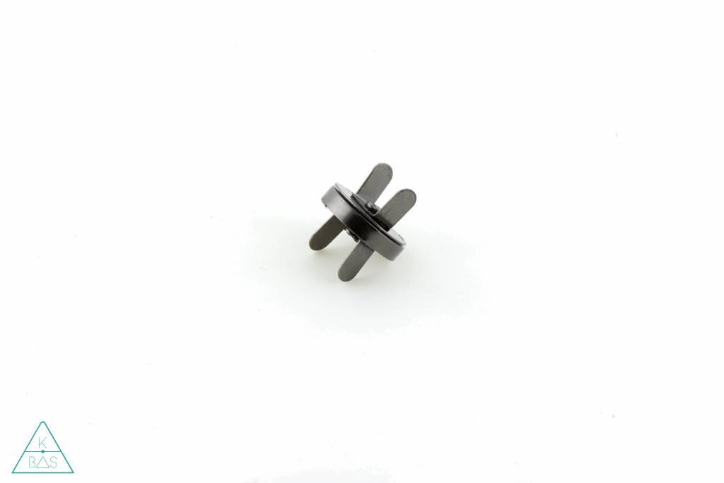 Magneetsluiting Zwart Nikkel 18mm