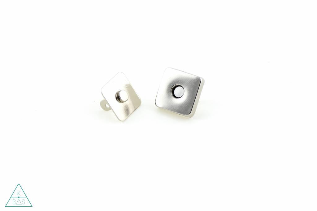 Magneetsluiting Vierkant Nikkel 18mm