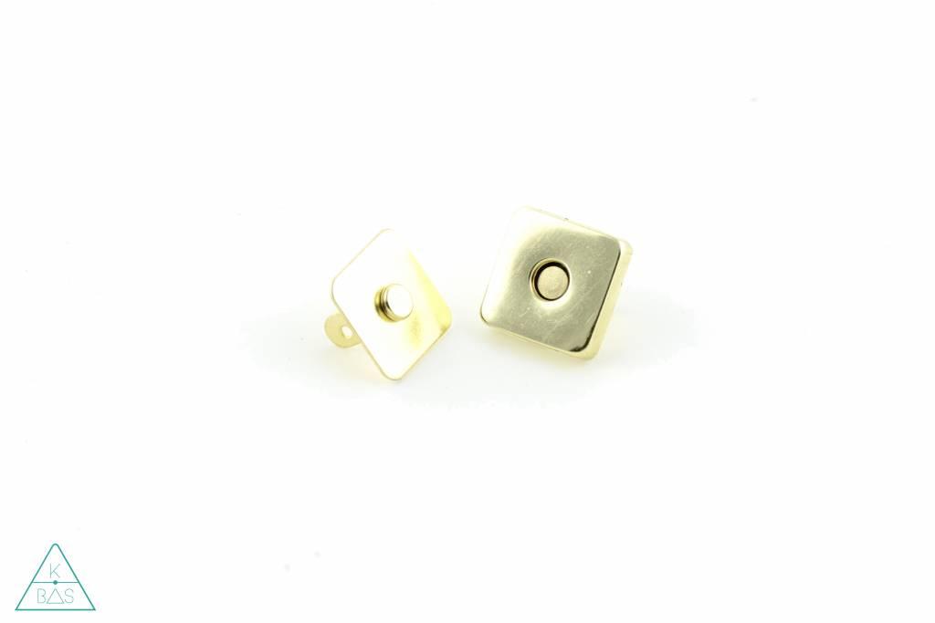 Magneetsluiting Vierkant Goud 18mm