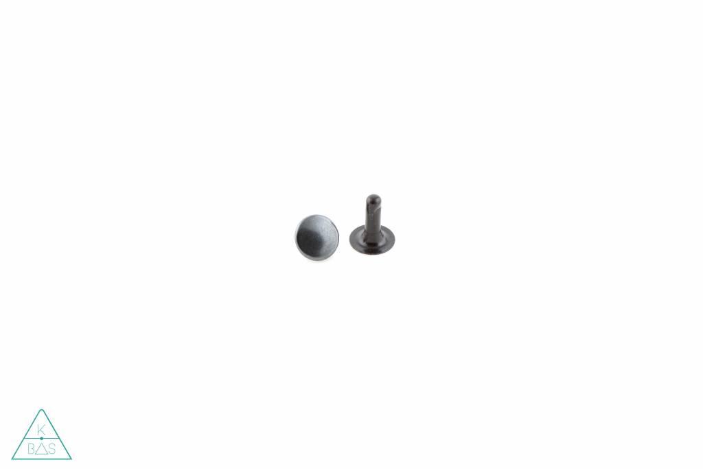 Holnieten Zwart 9mm - lange pin (10st)
