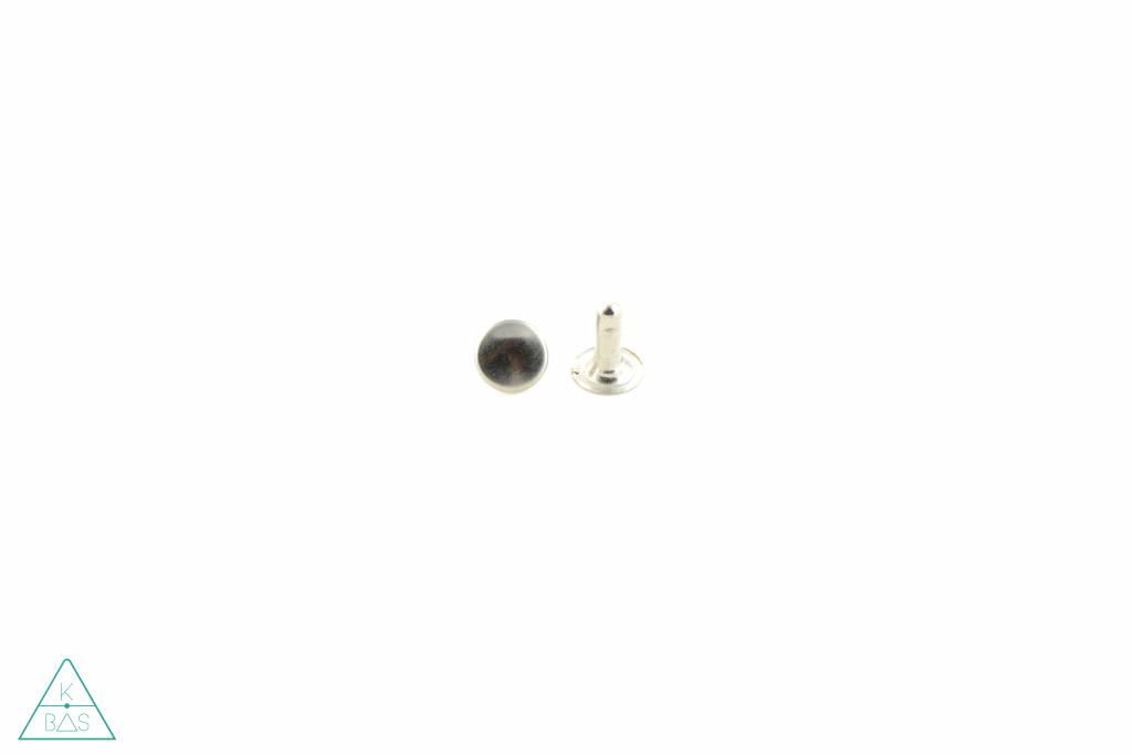 Holnieten Nikkel 9mm - lange pin (10st)
