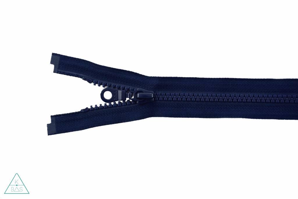 YKK Deelbare Bloktandrits 45cm Donkerblauw