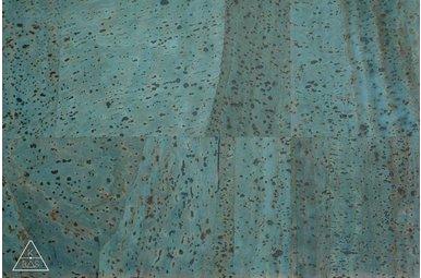 Kurkleer Jeansblauw