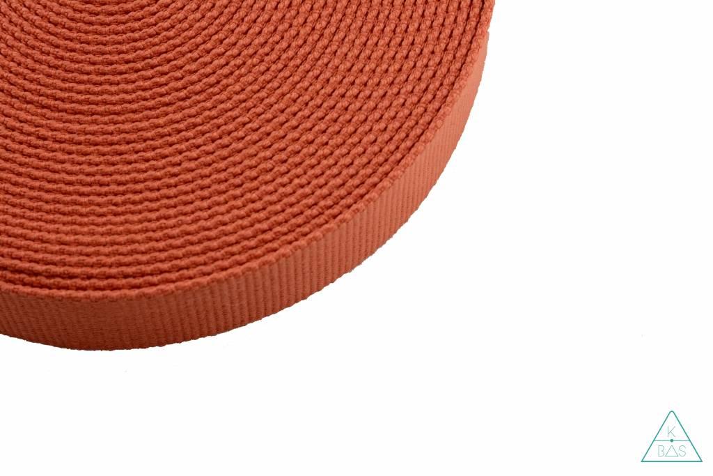 Katoenen tassenband oranje 30mm