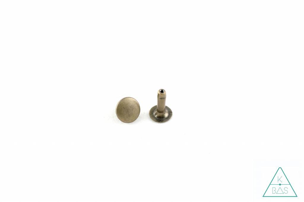 Holnieten Brons 9mm - lange pin (10st)