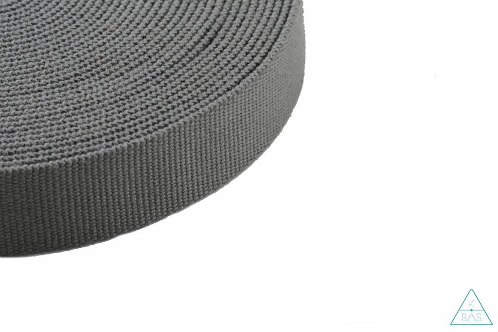 Katoenen tassenband muisgrijs 30mm