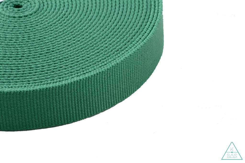 Katoenen tassenband garsgroen 30mm