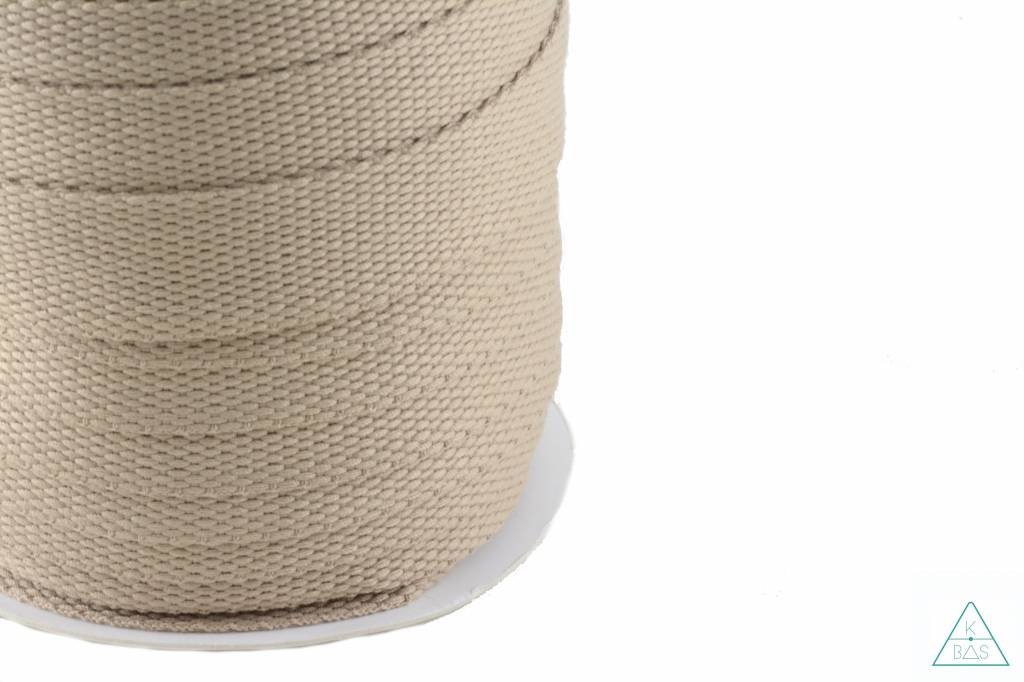 Katoenen tassenband Zand 25mm
