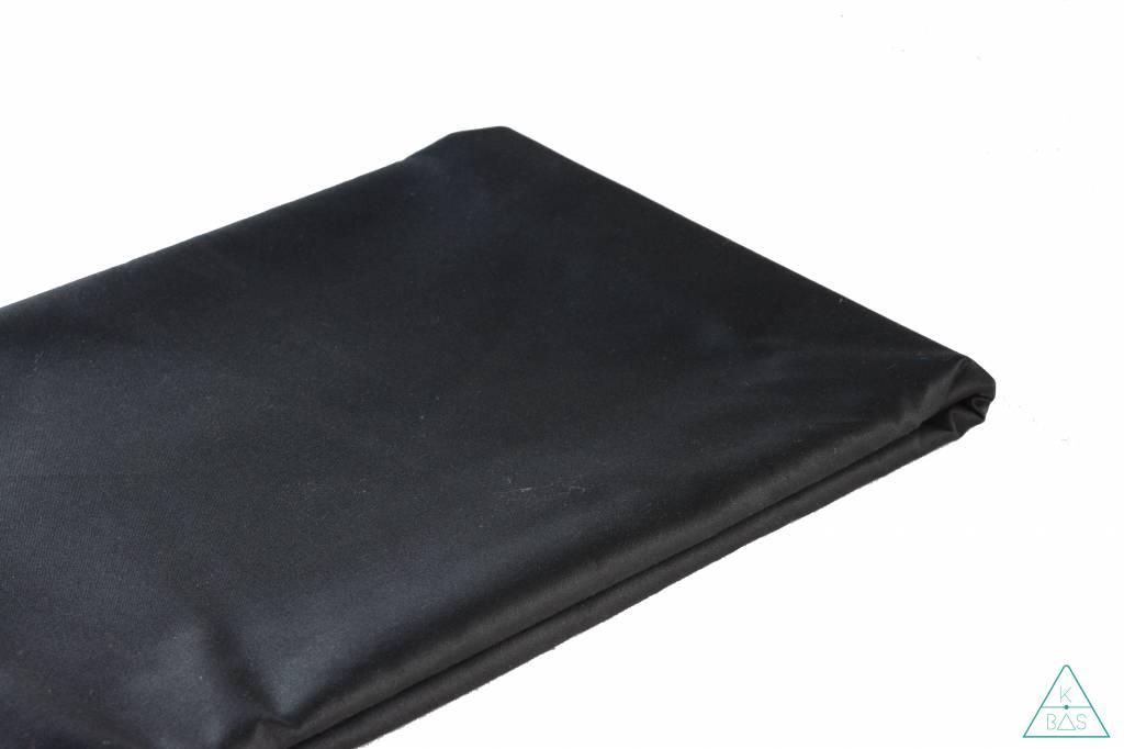 Waxed cotton zwart