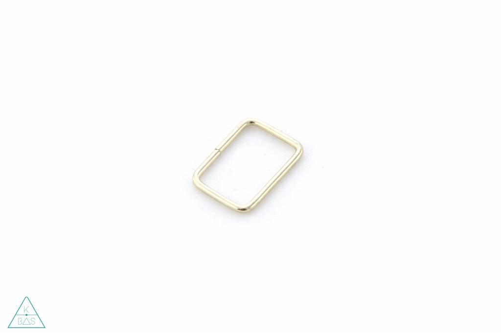 Passant Rechthoekig Goud 25mm